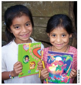 The two girls who sparked the charity, Yessenia and Sandra.