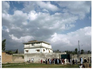 Osama bin Laden's compound in Abbottabad, Pakistan — the place he was hiding when he was found and killed by a U.S. special forces military unit.