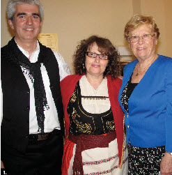 To mark the 70th anniversary of the Battle of Crete, the Cretans' Association of Ottawa, with the Hellenic Community of Ottawa and the Greek Embassy, hosted a talk. From left: John Karadakis, Kathy Gouvatsos and Cathy Dimitriov. (Photo: Jennifer Campbell)