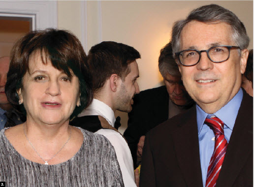 Colombian Ambassador Clemencia Forero and Brazilian Ambassador Piragibe S. Tarrago attended a Music to Dine For fundraising event hosted by Jamaican High Commissioner Sheila Sealy-Monteith, in support of the NAC's young musicians program. (Photo: Lois Siegel)