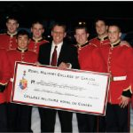 New Zealand High Commissioner Andrew Needs hosted a fundraiser, organized by a team of volunteers. Proceeds went to the Christchurch Earthquake Appeal (www.quakeappeal.com). Mr. Needs is shown with a contingent of cadets from the Royal Military College in Kingston, who presented a big cheque and contributed to the overall total of $16,600 raised.