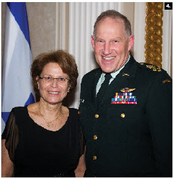 To mark the 63rd independence day of Israel, Ambassador Miriam Ziv hosted a reception at the Château Laurier Ballroom. Chief of Defence Staff Walt Natynczyk attended.