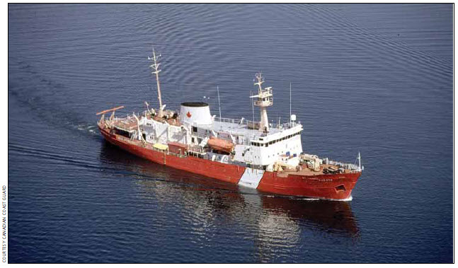 Vessel type and category: Offshore science vessel, non-combat