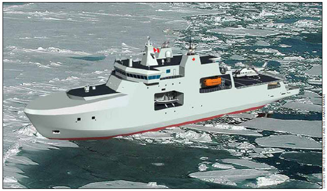 Vessel type and category: Arctic/offshore patrol ships