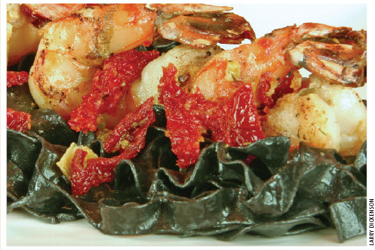 Extraordinary sun-dried tomato shrimp
