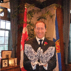 Estonian Foreign Minister Urmas Paet visited Canada in November and presented Defence Minister Peter MacKay with traditional Estonian mittens after their meeting. (Photo: Ulle Baum)