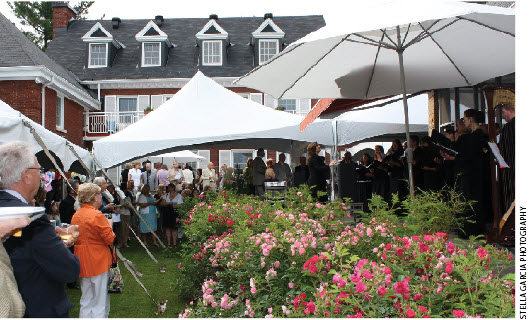 German Ambassador Georg Witschel and his wife, Sabine, hosted a July garden party for nearly 400, in support of the Ottawa Bach Choir.