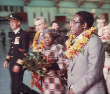 Robert Mugabe in Zimbabwe in 1983.