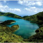 "Sao Miguel Island, nicknamed ""the Green Island,"" is the most populous island in the Portuguese Azores archipelago."