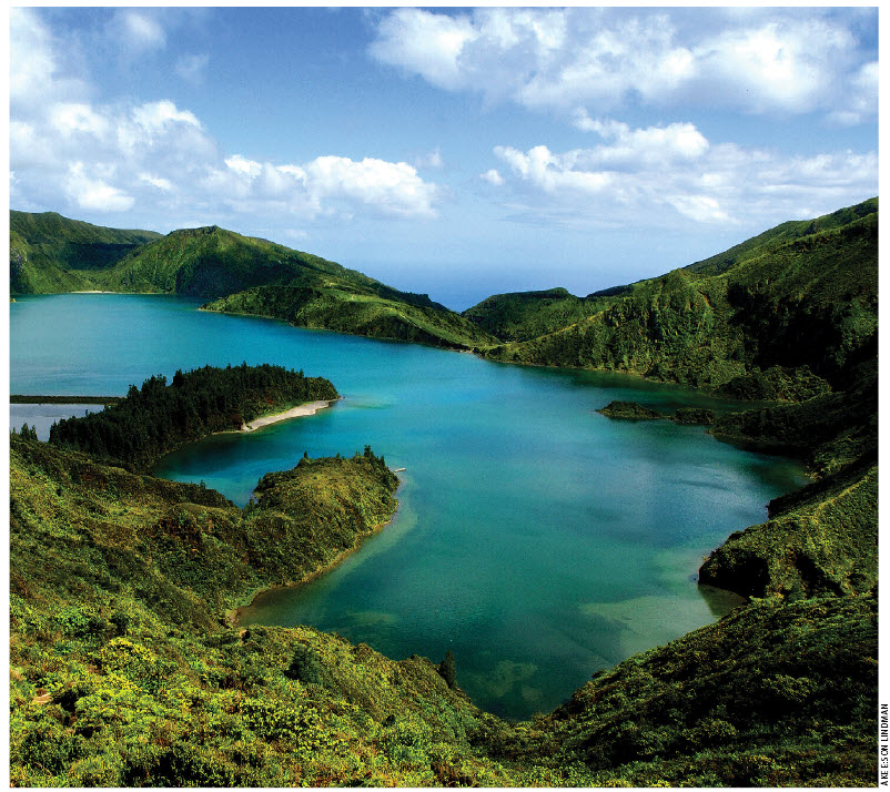 """Sao Miguel Island, nicknamed """"the Green Island,"""" is the most populous island in the Portuguese Azores archipelago."""
