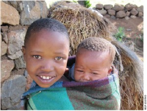 Children looking after children: Child-headed households are on the rise in Lesotho from the devastation of poverty and HIV/AIDS.