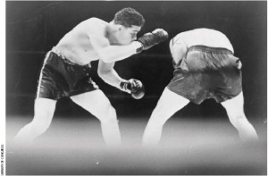 Joe Louis and Max Schmeling in 1936: racism in the ring