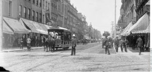 Yonge Street looking North from Queen Street, Toronto, 1890.