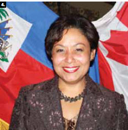 4. Haitian Charge d'Affaires Natalie Menos-Gissel hosted a national day celebration in February. (Photo: Ulle Baum)