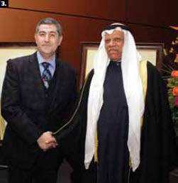 3. To mark the 51st anniversary of the national day of Kuwait, Ambassador Ali H.S. Al-Sammak hosted a dinner-reception at the Ottawa Convention Centre Feb. 27. He's shown with Saudi Ambassador Osamah A. Al Sanosi Ahmad. (Photo: Sam Garcia)