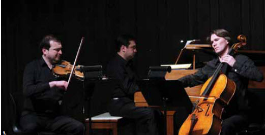 1. The Embassy of Azerbaijan commemorated the 22nd anniversary of Black January 1990, when the Soviet Union stormed Baku. The embassy hosted a concert at Library and Archives Canada featuring the Toronto Mendelssohn Trio (from left, Roudat Amiraliev, Teimour Sadykhov and Rachad Feizoullav). (Photo: Sam Garcia)