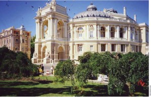 The Odessa Opera House is one of Odessas prized buildings.