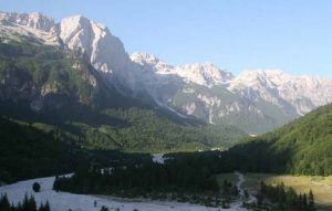 The sights in the Valbona River Valley's national park, on the eastern side of the Albanian Alps, are breathtaking.