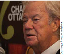 Award-winning Canadian actor and playwright Gordon Pinsent, shown here at the May 21 launch party for Ottawa Chamberfest 2012, makes his debut at Chamberfest this year.