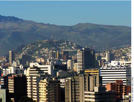 The climate of Ecuador's capital city of Quito draws tourists to its mountains for relaxation and adventure.