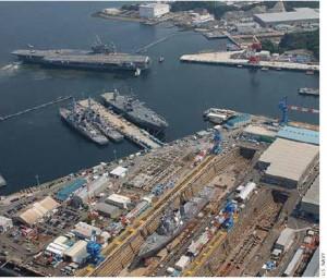 The U.S. Navy base in Yokosuka, Japan.