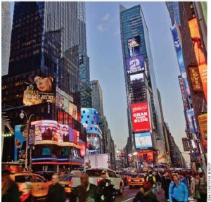The United States is the largest economy in the world but lost its No. 2 position in world productivity listings partly because Congress and the Obama administration can't agree on a successful bi-partisan economic policy.  Shown here is Times Square in Manhattan.