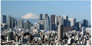 Japan is a leader in technological innovation and research, but it also leads in public debt as a share of GDP. Tokyo is seen here.