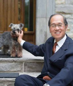 Dr. Lee and his pooch, Chucky.
