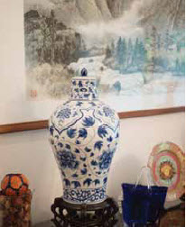 Taiwanese pottery decorates the residence.