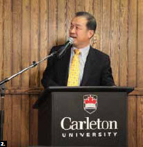 Chinese Ambassador Junsai Zhang was the final speaker at Carleton University's Ambassadors Speakers Series (Photo: Patrick Hollier)