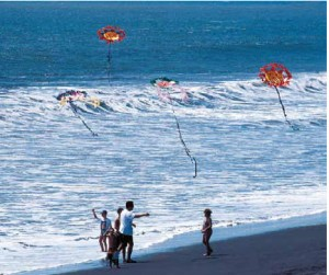 The Pacific Coast is made for kite-flying.