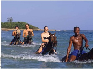 Take a horseback ride through the water at ChukkaHorseback Ride 'n' Swim in St. Ann.