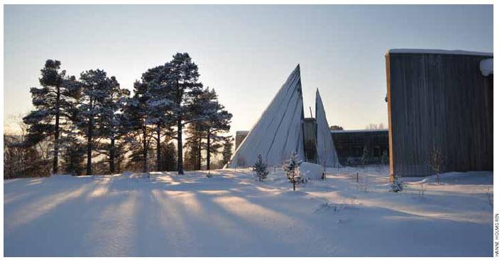 The Sami indigenous peoples' Parliament in Karasjok, Norway.