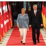 German Chancellor Angela Merkel met with Prime Minister Stephen Harper in Ottawa in August. (Photo: Sam Garcia)