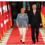 German Chancellor Angela Merkel met with Prime Minister Stephen Harper in Ottawa in August. (Photo: Sam Garcia)