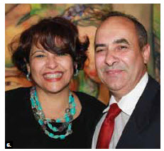 Cuban Ambasador Teresita Vicente Sotolongo hosted a farewell reception. She's shown with her husband, minister-counsellor Antonio Rodríguez Varcárcel. (Photo: Ulle Baum)