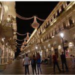 The capital, Baku, at night.