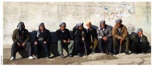 Kurdish elders gather in Northern Iraq.
