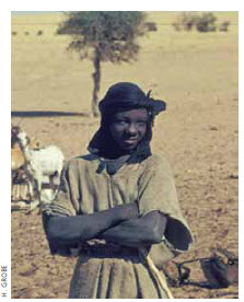 A member of the Tuareg tribe of Mali.