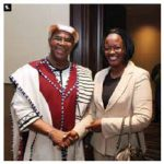 South African High Commissioner Membathisi Mdladlana hosted a reception at the Westin Hotel to mark the presentation of his credentials. He's shown with Rwandan Ambassador Edda Mukabagwiza. (Photo: Sam Garcia)