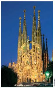 The Sagrada Familia, a Roman Catholic church designed by Antoni Gaudi, is a UNESCO World Heritage Site. It's still incomplete, 130 years after construction began.