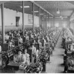 Women making cigarettes in the El Buen Tono factory in Mexico City.