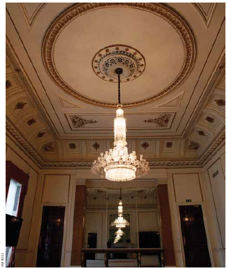 """Canada House has been renovated and restored to its present """"dignified opulence, with its grand staircase, enormous crystal chandeliers and all the rest."""""""