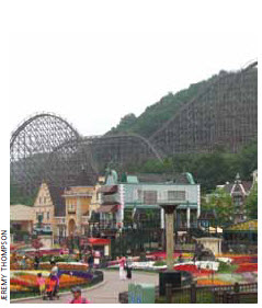 The T Express, a wooden roller-coaster at Everland in South Korea, was built in 2006.