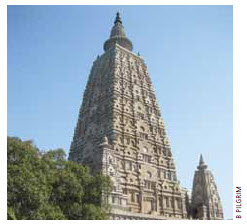 Bodh Gaya, India, where Buddha is said to have achieved enlightenment under a Bodhi tree in 531 BC.