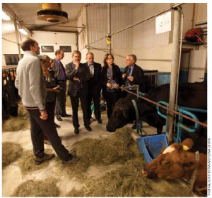 Johannes Hahn, European Union commissioner for regional policy, and EU officials, visit a farm in northern Iceland.