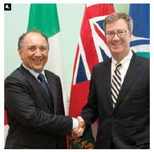 Italian Ambassador Gian Cornado paid a courtesy call to Ottawa Mayor Jim Watson.