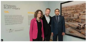 Azerbaijani consul Goshgar A. Zeynalov, right, attended the opening of the Edward Burtynsky show at the Canadian Museum of Nature. He's shown with the artist, centre, and Museum CEO Meg Beckel. (Photo: Martin Lipman)