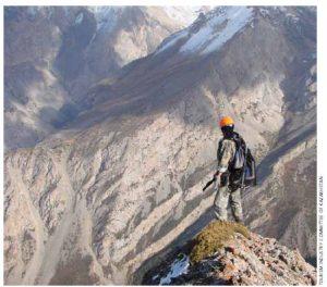 Mountain climbing in the Sayram-Ugam National Park.