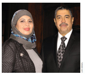 Yemeni Ambassador Khaled Mahfoudh Bahah and his wife, Rima.